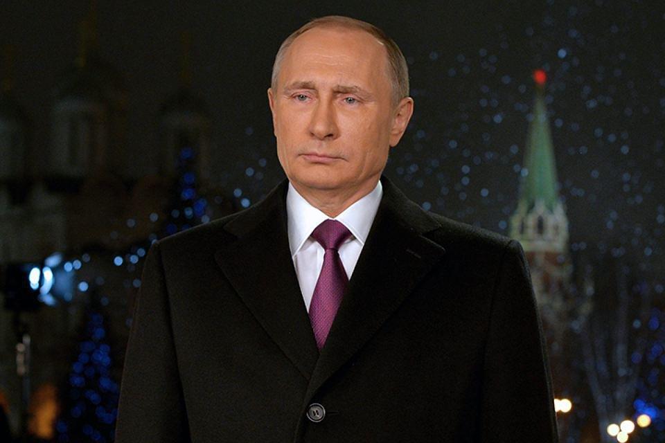 Новогоднее обращение В. Путина записано вновом формате
