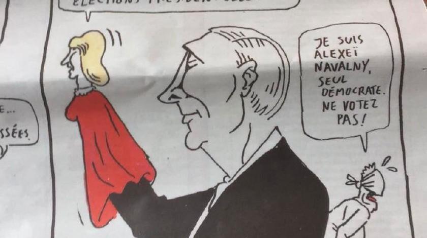 Charlie Hebdo опубликовали карикатуру навыборы президента РФ