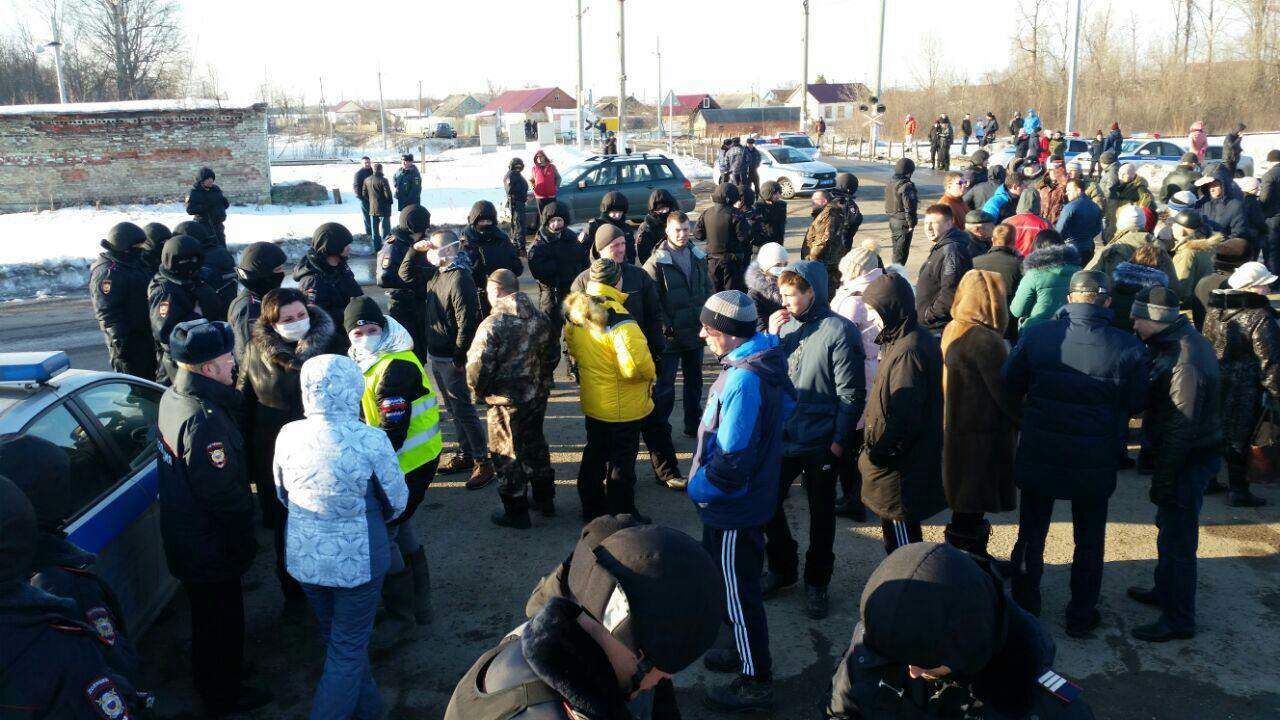 Мусорный бунт вКоломне: граждане протестуют против свалки «Воловичи»
