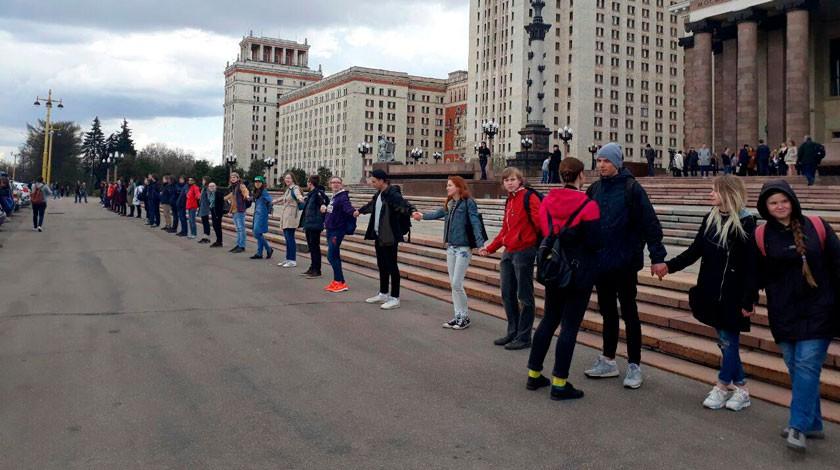 Милиция поведала оботсутствии инцидентов наакции студентов МГУ