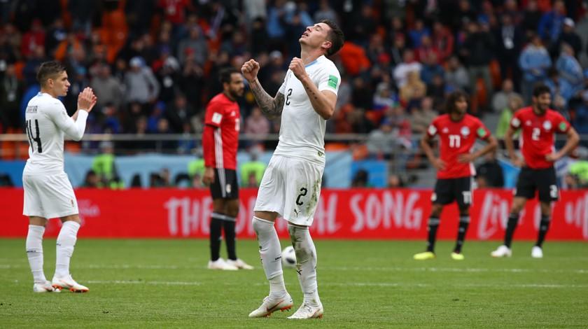 Уругвай вырвал победу у Египта в концовке матча