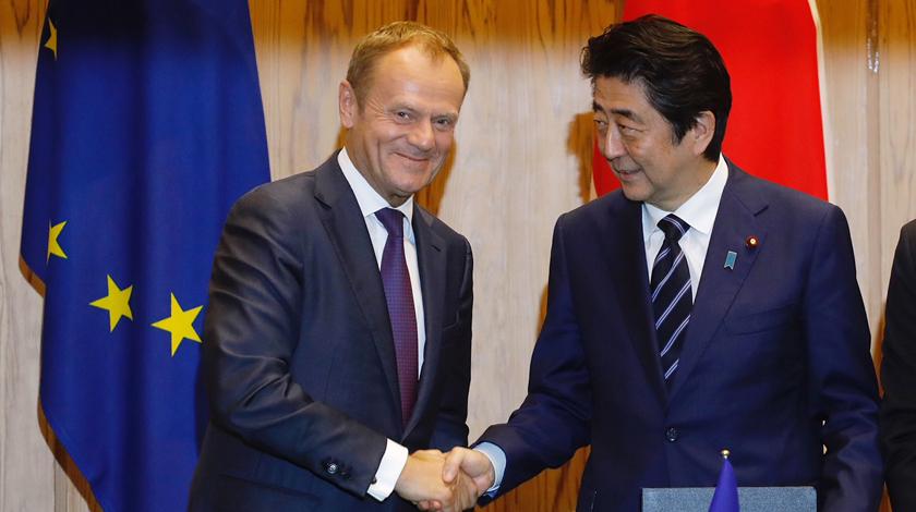 Япония и EC подписали соглашение освободной торговле