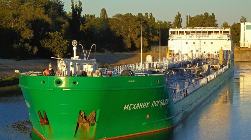 Российское судно Механик Погодин заблокировали в херсонском порту без санкции на арест