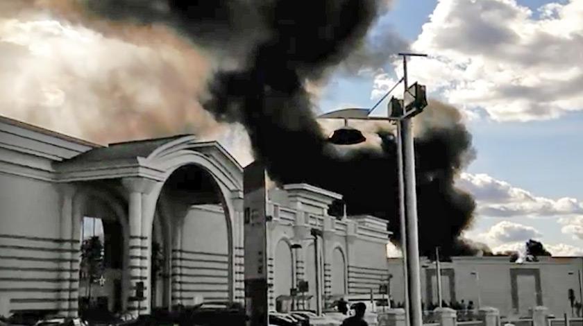 В Москве загорелся ангар у торгового центра Vegas — Daily Storm 182ada28fb8