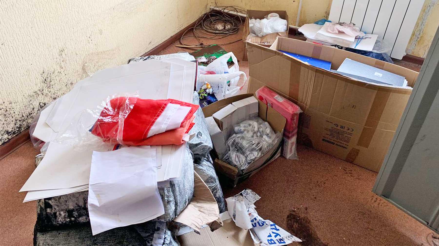 Мособлизбирком: Бюллетени не пострадали при прорыве трубы в помещении ТИК в Рошале