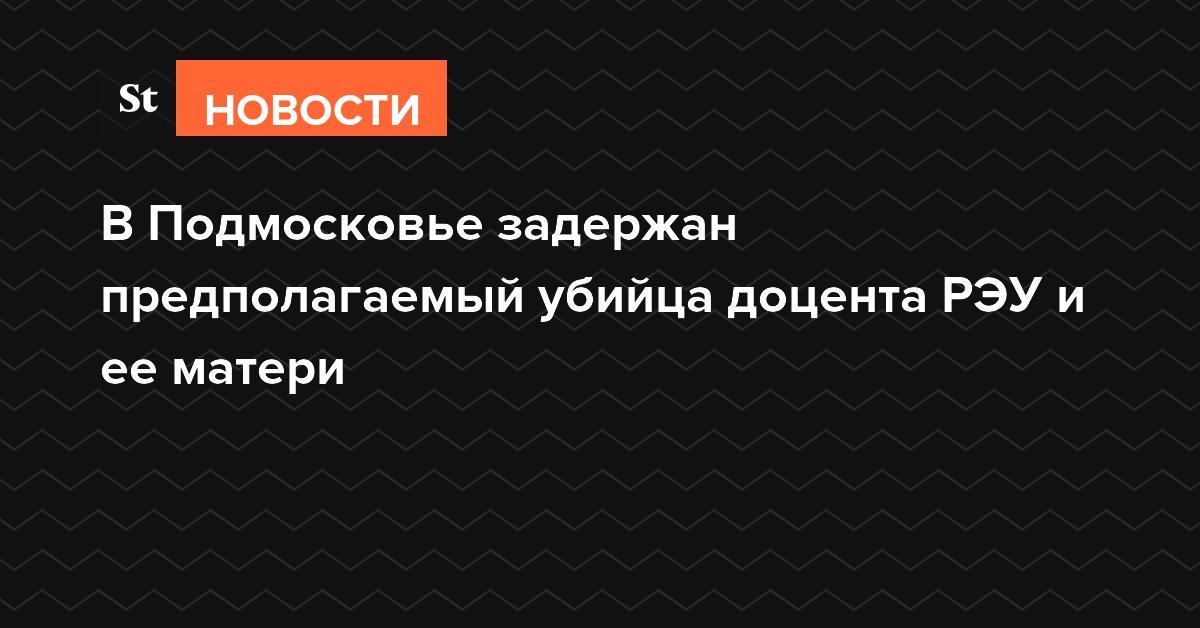 В Подмосковье задержан предполагаемый убийца доцента РЭУ и ее матери