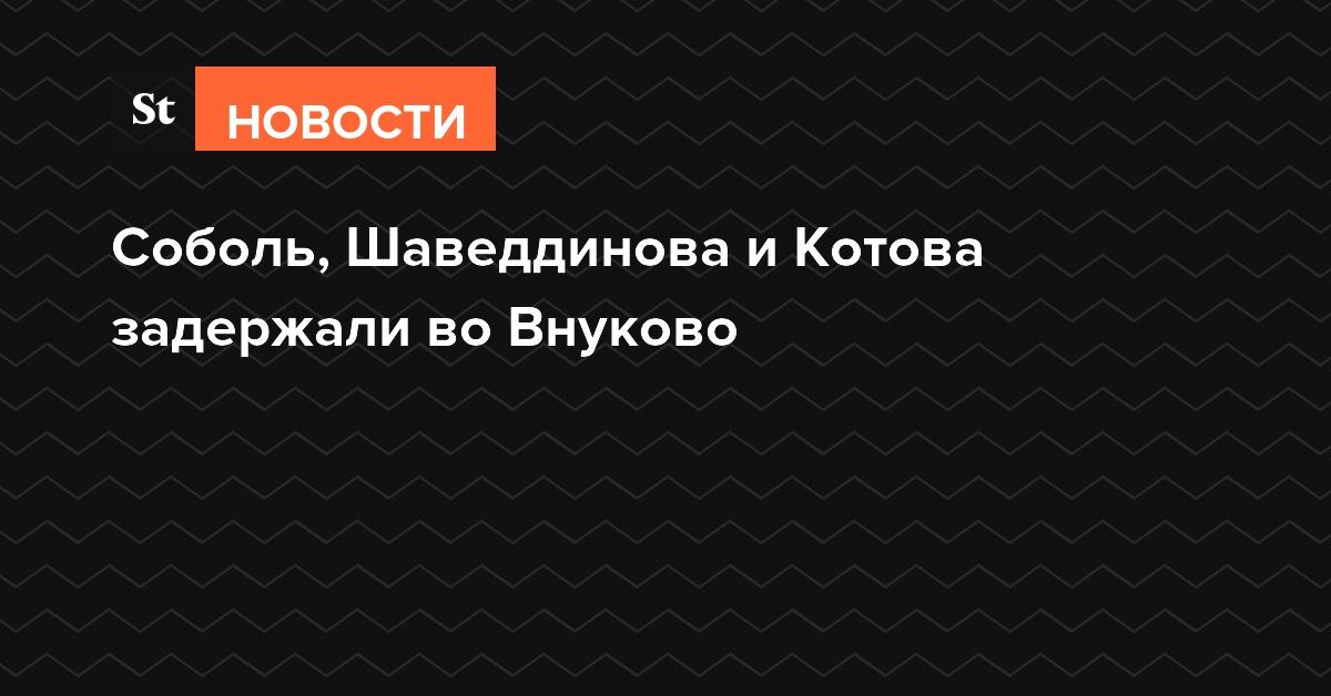 Соболь, Шаведдинова и Котова задержали во Внуково