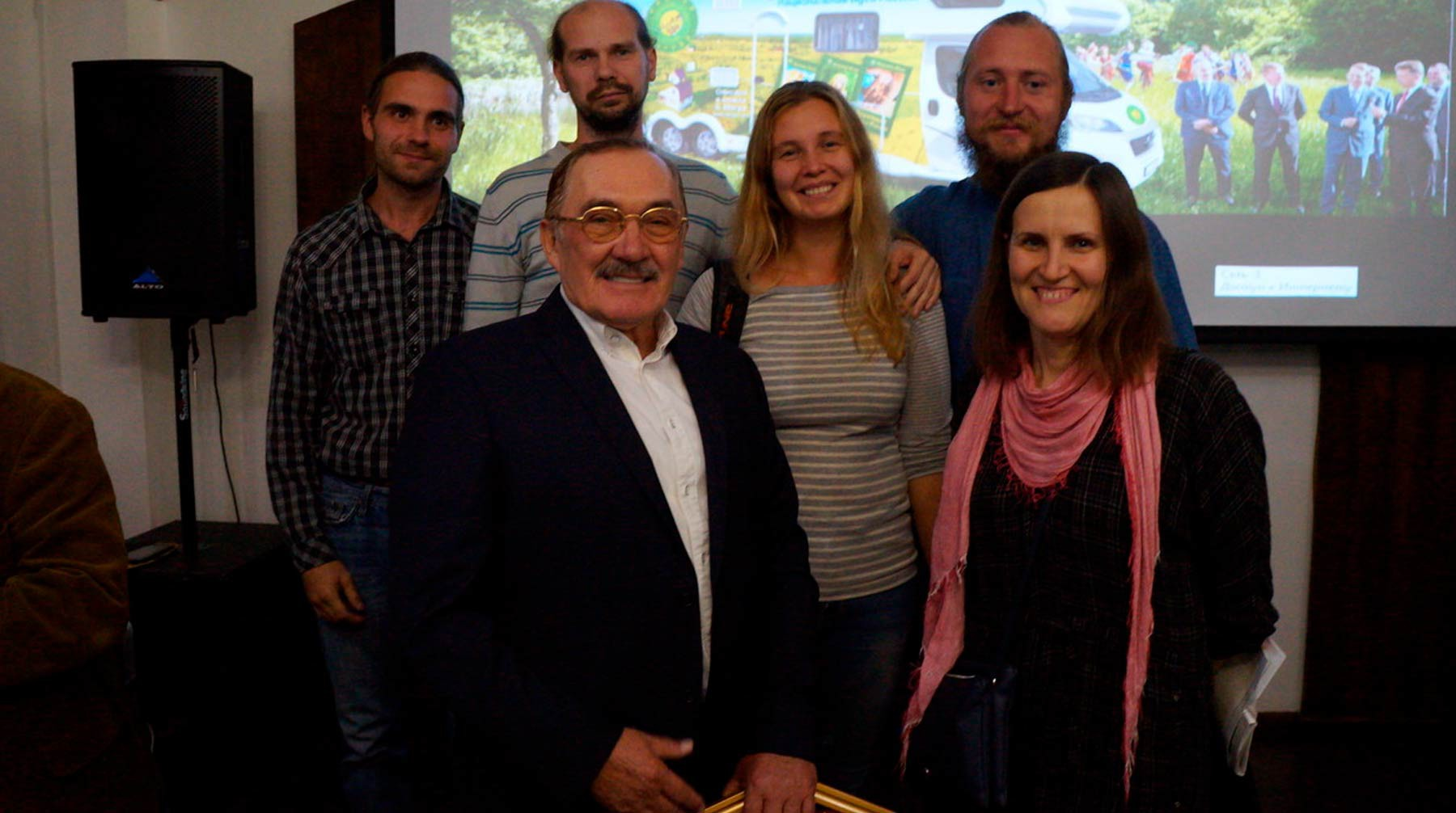 Жители Любодара и Владимир Мегре